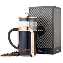 VonShef Premium Glass Heat Resistant French Press Cafetiere