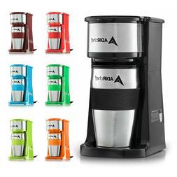 AdirChef Grab N' Go Personal Coffee Maker with 15 oz. Travel
