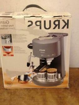 Krups Gusto Pump Espresso + Cappucino Maker #962-42 Black Ne