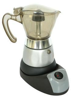 400W 4 Cups High Pressure Electric Coffee Maker Espresso,Sil