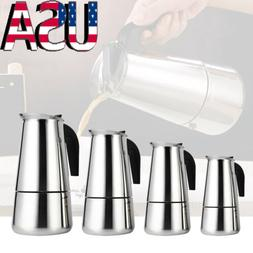 Home Office Stainless Steel Espresso Percolator Stovetop Moc