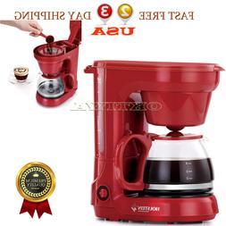 Housewares Coffee Machines 5 Cup Coffee Maker Red Tea Espres