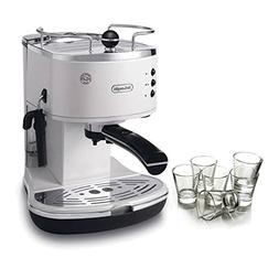 DeLonghi Icona Pump White Espresso Maker with Free Set of 6