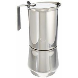 Ilsa 122-10, Stainless Steel Stove-Top Espresso Maker, 10- C