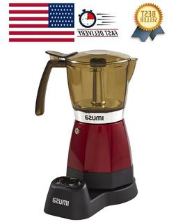 IMUSA USA B120-60008 Electric Espresso/Moka Maker, 3-6 Cups,