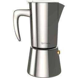 Bonvivo Intenca Espresso Maker Made of Stainless Steel with