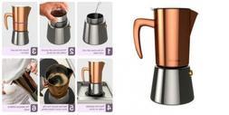 bonVIVO Intenca Stovetop Espresso Maker, Italian Coffee Make