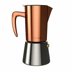bonVIVO Intenca Stovetop Espresso Maker Stainless Steel Moka