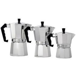 VonShef 3 Cup Italian Espresso Coffee Maker Stove Top Moka M