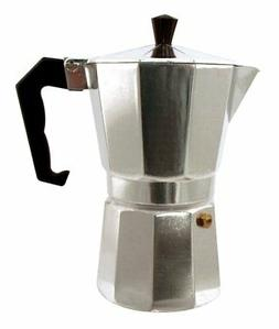 Gourmet Home Products Kitchen Genie 6 Cup Stovetop Espresso