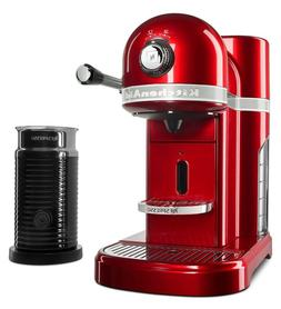 KitchenAid  Candy Apple Red Nespresso Espresso Maker with Mi