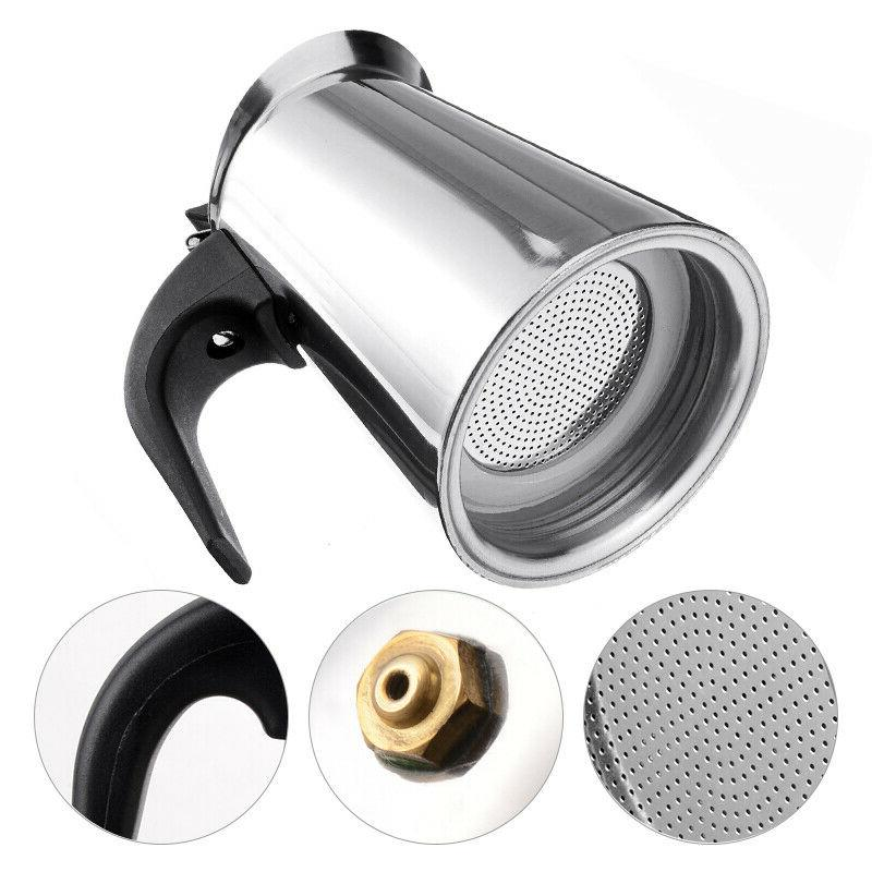 100-450ml Stainless Steel Moka Pot Induction