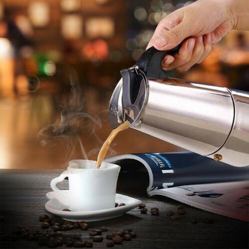 100ml COFFEE MAKER STEEL STOVETOP PERCOLATOR