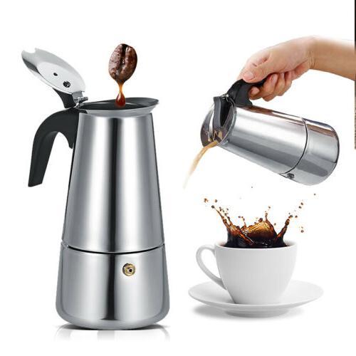 100ml 300ml ESPRESSO COFFEE MAKER PERCOLATOR MOKA POT