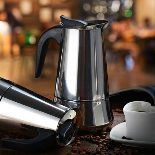 Stainless Moka Espresso Coffee Maker