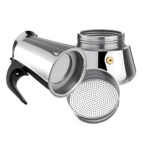 Stainless Coffee Pot Maker Stovetop