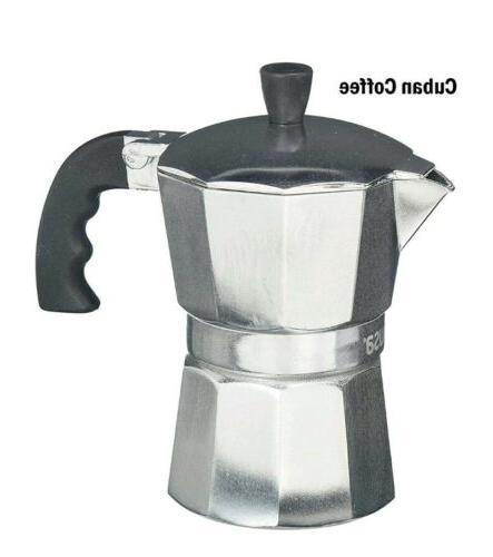 3 cup aluminum espresso coffee stovetop coffeemaker