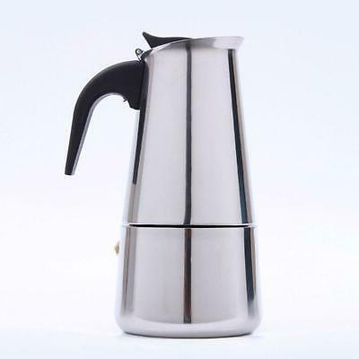 4/6Cup Maker Espresso Latte Percolator Electric Stove