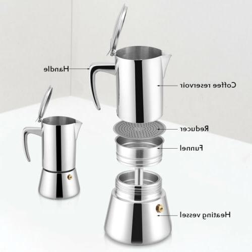4 Cup Stainless Percolator Pot Tool