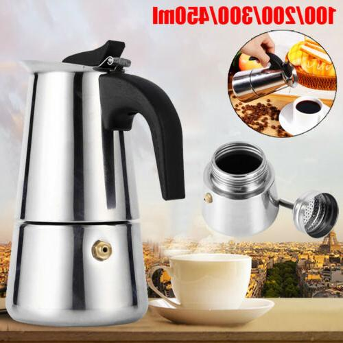 4 stainless steel stovetop espresso