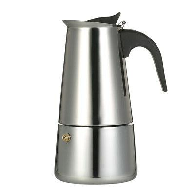 200ml 4 cup stainless steel espresso percolator