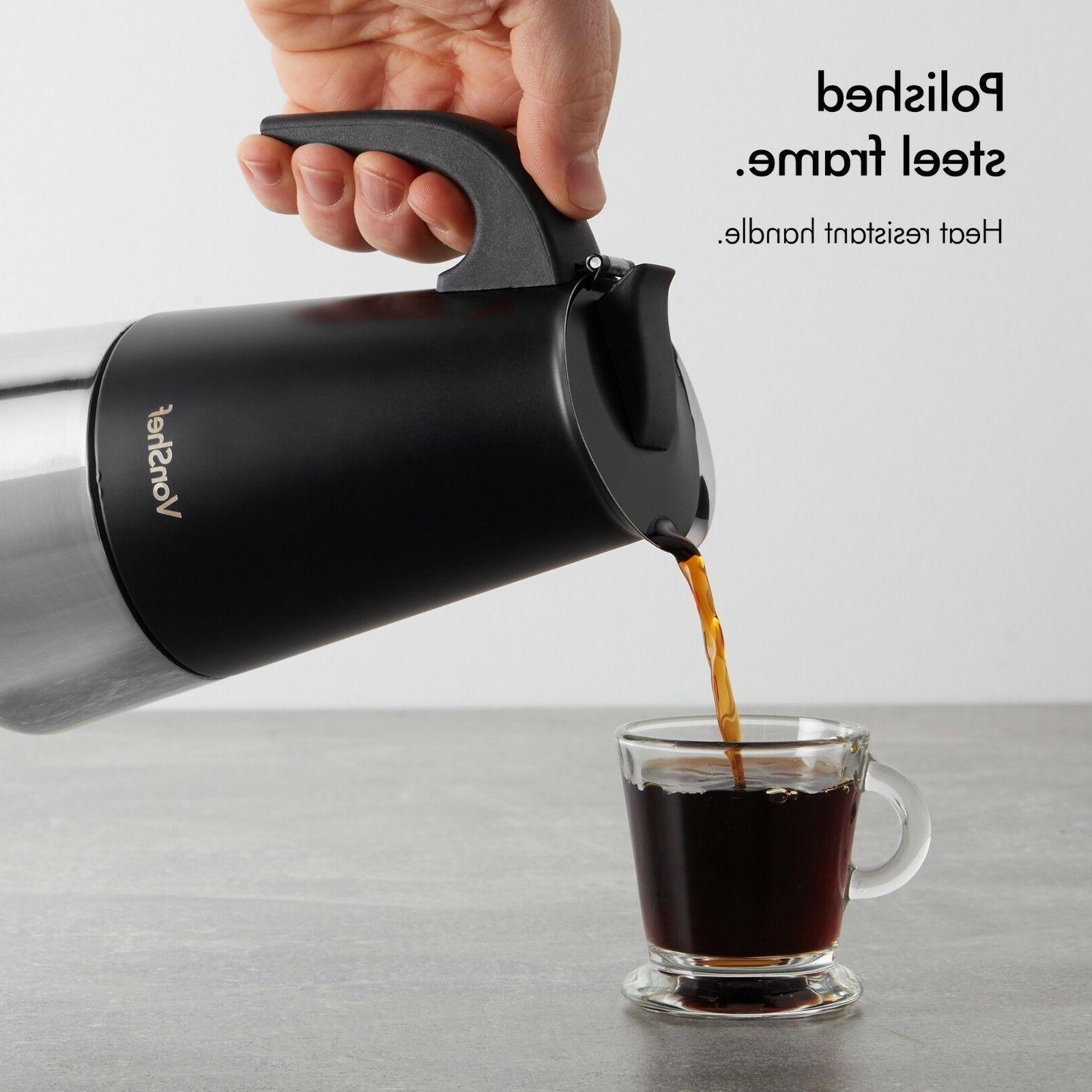 VonShef Cup Espresso Maker Black Steel