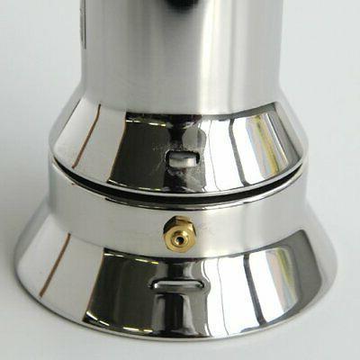Alessi 9090/3 Stove Espresso Cup Maker, Silver