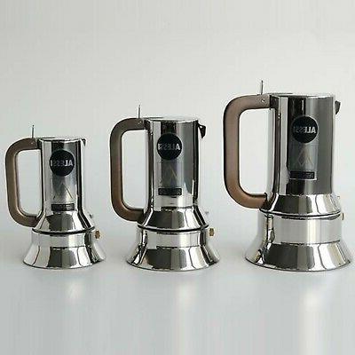 Alessi 9090/3 Stove Top Espresso Coffee Maker 18/10 Steel