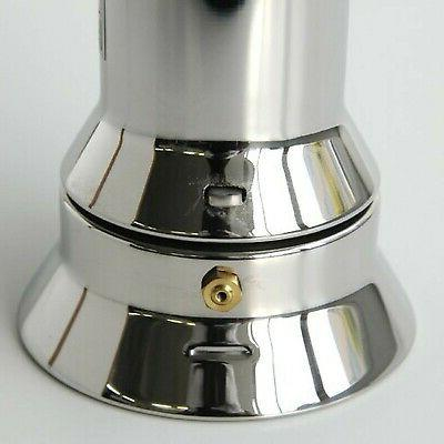 Alessi Top Espresso Cup Coffee Maker in 18/10 Steel Mir