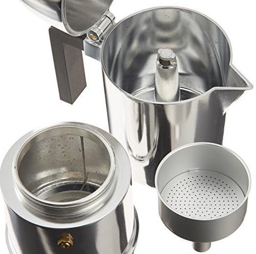 Alessi A9095/6 Cupola 6-Cup Silver Espresso Maker Handle