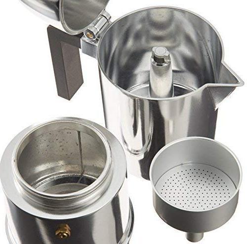 Alessi A9095/6 B Cupola Espresso Maker With Handle