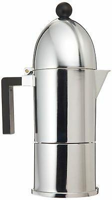 Alessi A9095/6 B La Cupola 6-Cup Silver Aluminum Espresso Ma