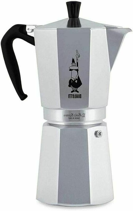 Bialetti 1167 Moka Express Export Espresso Maker, Silver
