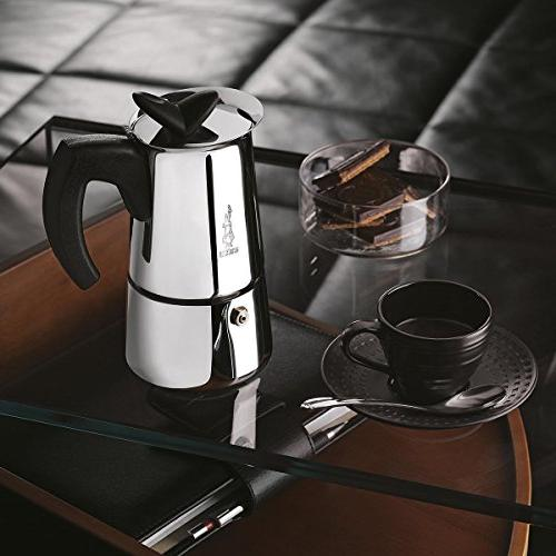 Bialetti Stove Coffee 6-Cup Stainless Steel