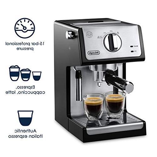 "De'Longhi ECP3420 Espresso and Cappuccino Machine 15"" Black"