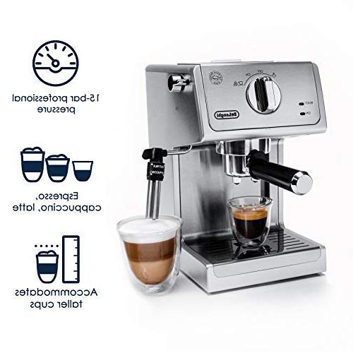 De'Longhi 15 Pump Espresso Machine, Stainless