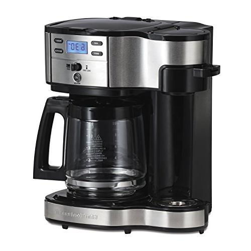 Hamilton Beach 49980A Coffee Maker, Single Serve, Black/Stai