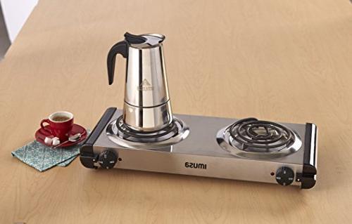 IMUSA USA Steel Coffeemaker 4-Cup, Silver