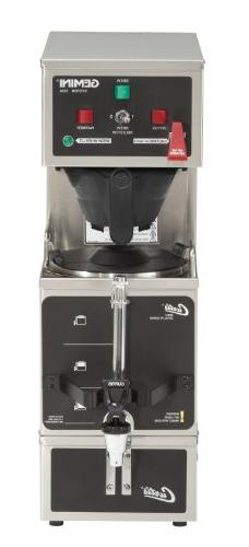 Wilbur Curtis Gemini Single Coffee Brewer, Analog, 1.0 Gal.