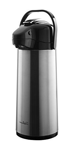 Bellemain 2.2 Liter Airpot Coffee Dispenser with Pump, Stain
