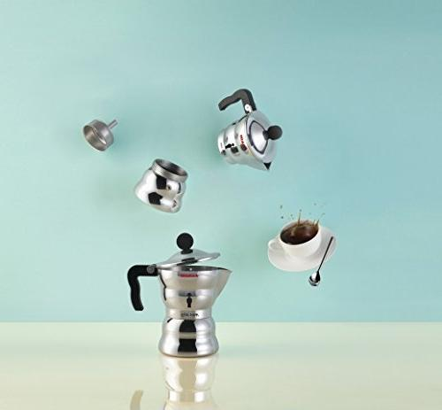 Alessi Top 3 Cup Coffee Casting Handle in
