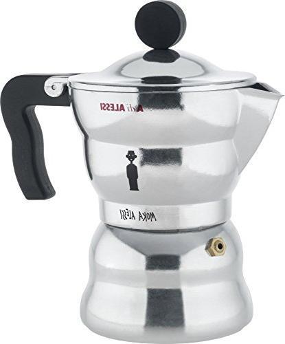 alessi aam33 3 moka stove top espresso cup coffee maker alum