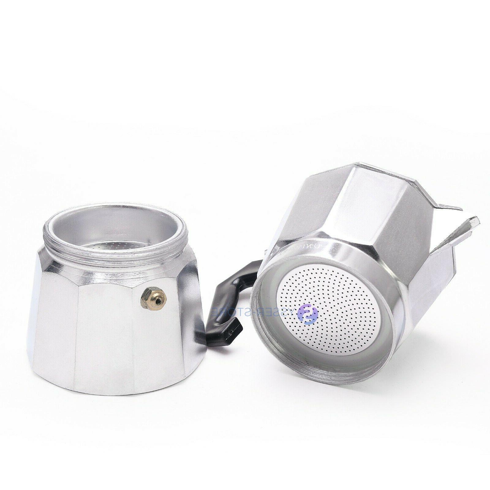 Aluminium Stove-Top Manually Moka 6, 9 Cafetera