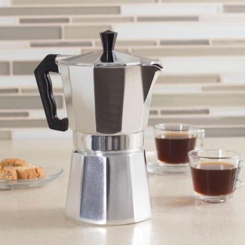 aluminum stovetop espresso coffee maker latte moka