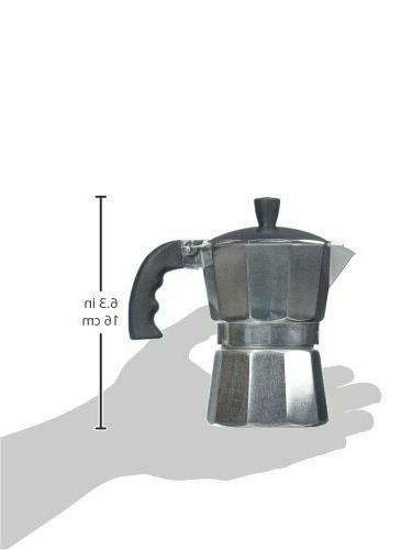 ALUMINUM Espresso Coffee Maker 3/6 Cup SILVER NEW