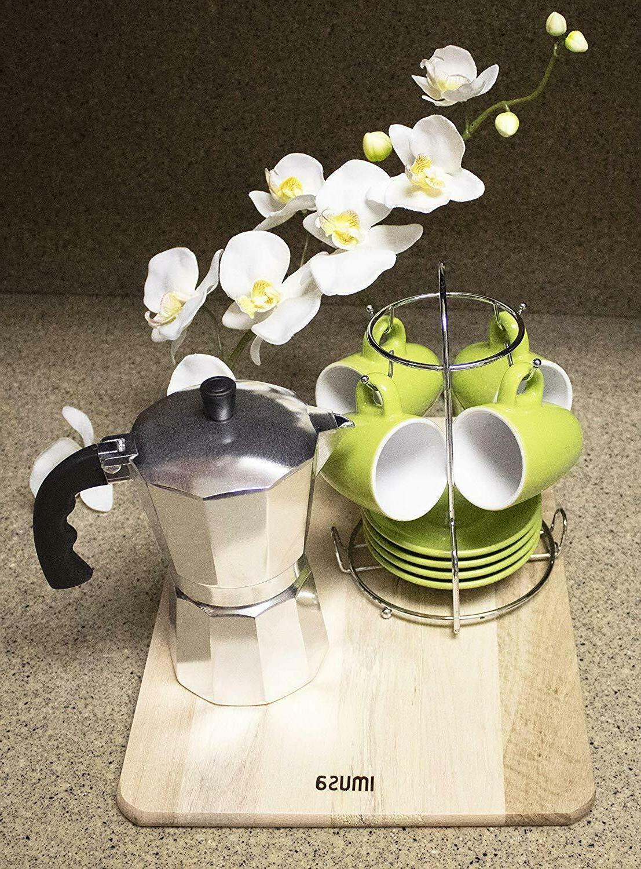 ALUMINUM Coffee Maker 3/6 SILVER NEW