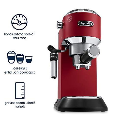 DeLonghi Dedica Deluxe 15-Bar Pump Espresso Machine,