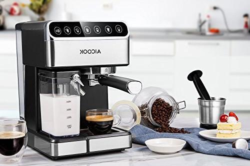 AICOOK Espresso Machine, Barista Espresso Maker with One 15 and Automatic Cappuccino maker,