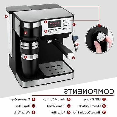 Coffee, and Maker w/ Frother, Accessories