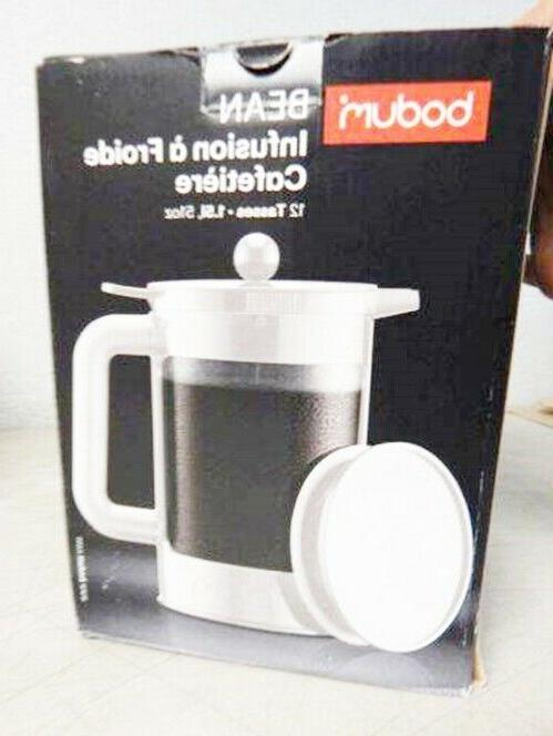 BODUM Bean Brew Coffee Maker Cup Capacity White
